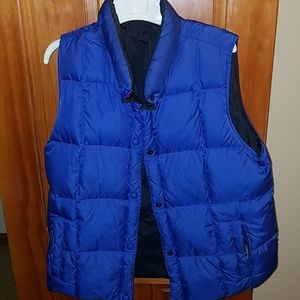 Land's End quilted down vest